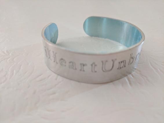 Used Etching bit to engrave on Aluminium bracelet blank
